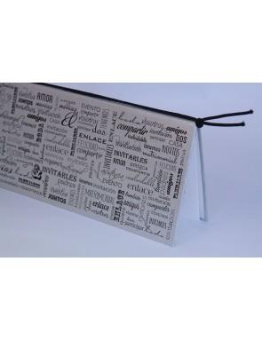 Invitación Modelo Cuaderno con forro plateado