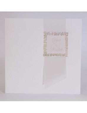 Invitación con Banda en papel Vegetal