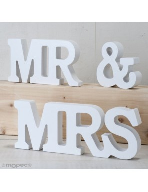 LETRAS MADERA MS & MRS