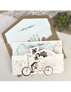 Invitación LOVE ON TWO WHEELS
